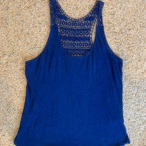 Blue knit Lucky Brand tank